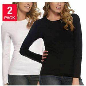 NWT Felina Long Sleeve Crew Neck T-Shirt 2 PACK